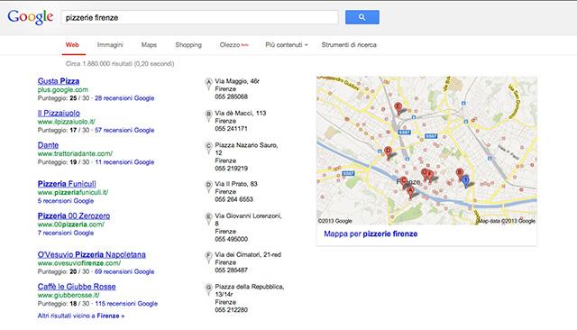 Posizionamento nei motori di ricerca con Google Maps